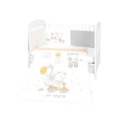 Kikkaboo Бебешки спален комплект 2 части EU style 70/140 Joyful Mice