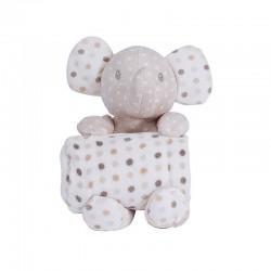Kikkaboo Детско одеялце с играчка Dotty