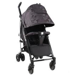 Kikkaboo Бебешка лятна количка Kingsy Black 2020