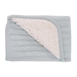 Плетено памучно одеяло с шерпа Mint