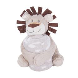 Kikkaboo Сет играчка с одеяло Leo
