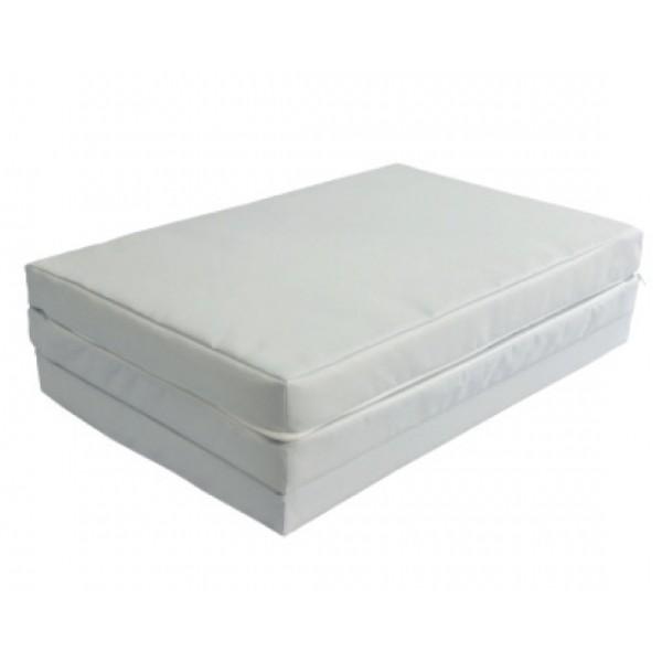 Сгъваем матрак 60/120/5 cm полиестер сив