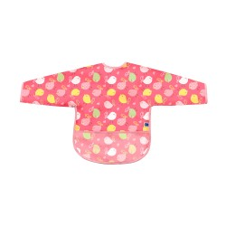 Лигавник с ръкави и джоб непромокаем Birds Pink