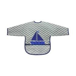 Лигавник с ръкави и джоб непромокаем Boat Grey