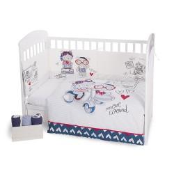Kikkaboo Бебешки спален комплект 2 части EU style 60/120 Love Rome
