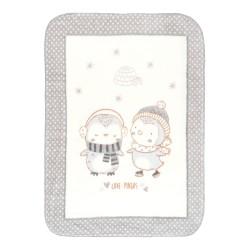 Супер меко бебешко одеяло Love Pingus 80/110 см сиво