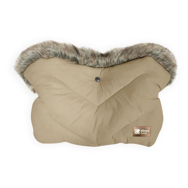 Kikkaboo Ръкавица за количка Luxury Fur Beige