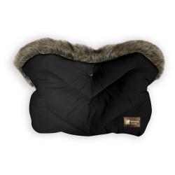 Kikkaboo Ръкавица за количка Luxury Fur Black