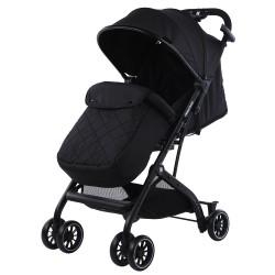 Kikkaboo Бебешка лятна количка Miley Black + покривало