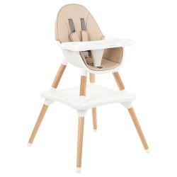Kikkaboo Дървен стол за хранене Multi 3in1 Beige