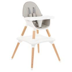 Kikkaboo Дървен стол за хранене Multi 3in1 Grey