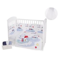 Бебешки спален комплект 3 части Nautic с комарник 200/540