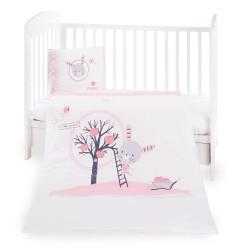 Бебешки спален комплект 5 части Pink Bunny