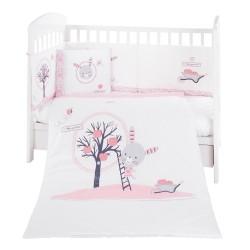 Бебешки спален комплект 6 части 60/120 Pink Bunny