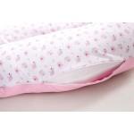 Възглавница за бременни от трико Pink Flowers 180 cm