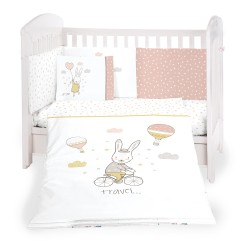 Бебешки спален комплект 6 части 60/120 Rabbits in Love