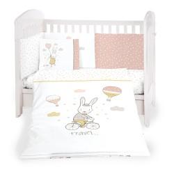 Бебешки спален комплект 6 части 70/140 Rabbits in Love