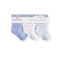 Бебешки памучни чорапи терлички SOLID BLUE 1-2 години