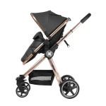 Комбинирана количка 3 в 1 Allure Black gold chrome 2020
