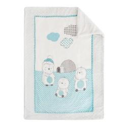 Супер меко бебешко одеяло с шерпа Pingui Family 110/140 см синьо