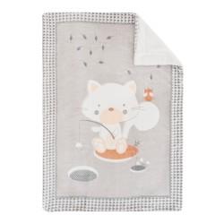 Супер меко бебешко одеяло с шерпа Polar Fisher 110/140 см сиво
