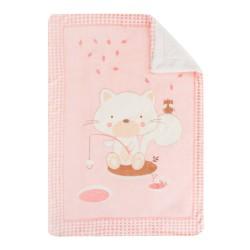 Супер меко бебешко одеяло с шерпа Polar Fisher 80/110 см розово