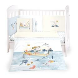 Бебешки спален комплект 6 части 70/140 The Fish Panda