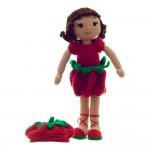 AlinoArt Ръчно плетена кукла Момиче Домат
