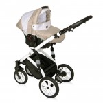 Lorelli Бебешка количка Mia 3in1 Light&Dark Beige