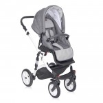 Lorelli Бебешка количка Mia 3in1 Light&Dark Grey