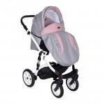 Lorelli Бебешка количка Mia 3in1 Pink&Grey