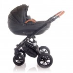 Lorelli Бебешка количка Mia 3in1 Black Leather