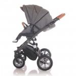 Lorelli Бебешка количка Mia 3in1 Grey Leather