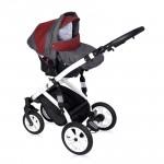 Lorelli Бебешка количка Mia 3in1 Red&Black