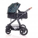 Lorelli Бебешка количка Alexa Set Black Leaves