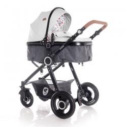 Lorelli Бебешка количка Alexa Set Light Grey