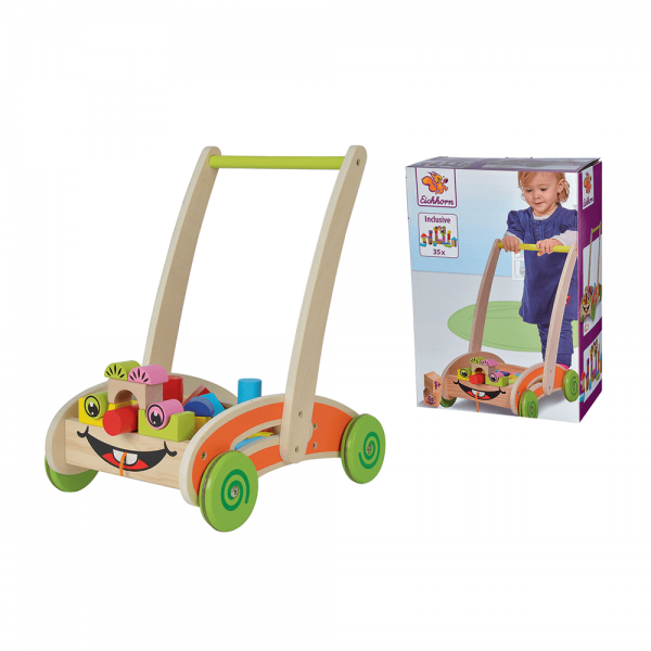 Eichhorn Дървена количка с блокчета 36 части