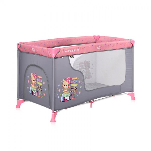 Lorelli Бебешка кошарка Moonlight 1 Ниво Pink Travelling