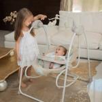 Lorelli Детска електрическа люлка Tango Grey