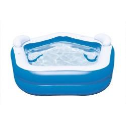 BESTWAY Надуваем фамилен басейн с две облегалки