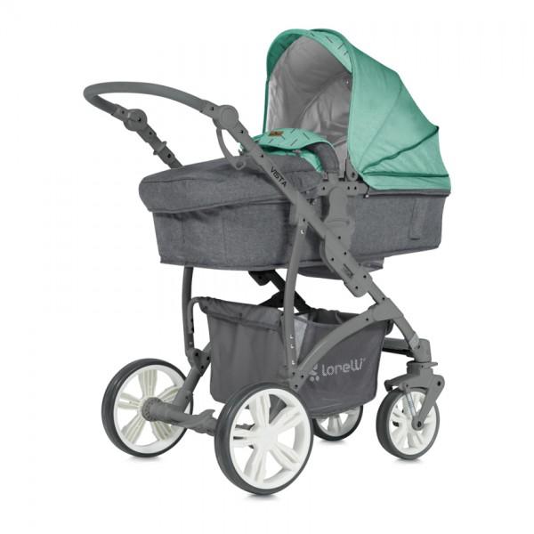 Детска количка Vista Green and Grey