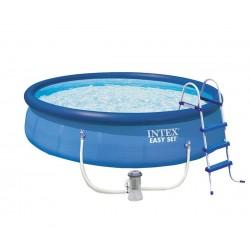 Надуваем басейн с филтърна помпа 457 х 107 см