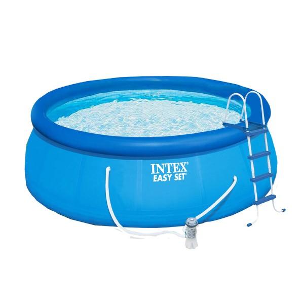 Надуваем басейн с филтърна помпа 457 х 122 см
