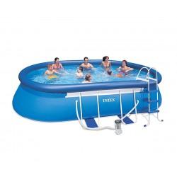 Овален надуваем басейн с филтърна помпа 549 х 305 х 107 см