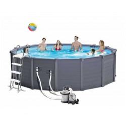 Сглобяем басейн с филтърна помпа 478 х 124 см
