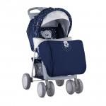 Детска количка Foxy Dark Blue Teddy с покривало