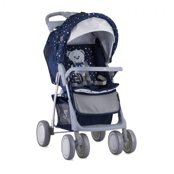 Детска количка Foxy сет Dark Blue Teddy