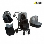 Бебешка количка Hauck Atlantic Plus Trio Set Melange Grey/Caviar