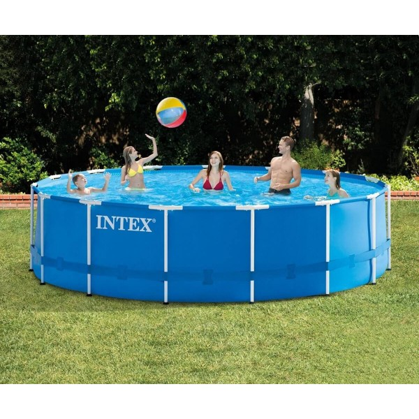 Intex Сглобяем басейн с филтърна помпа 457*122см