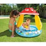 Intex Бебешки надуваем басейн със сенник Гъба